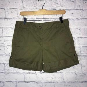 Ann Taylor Army Green Shorts
